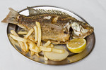 """Peter's Fish,"" served at the Sea of Galilee in Israel."