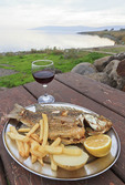 """""""Peter's Fish,"""" served at the Sea of Galilee, Israel."""