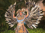 Owl Dancer, representing the creature the Maya revered as a Wise Counselor. Riviera Maya, Yucatan, Mexico.