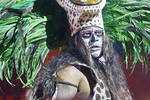 Man depicting a shaman or medicine man at Xcaret's