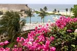 Swimming pool at Gran Velas resort in Riviera Maya, Yucatan, Mexico.