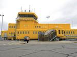 Iqaluit Airport on south Baffin Island, Nunavut, Canada.