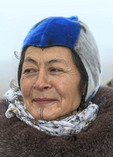 Aaju Peter, a Greenland Inuit now living in Nunavut, Canada, proudly wearing her traditional facial tattoos.