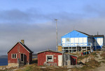 Colorfully painted houses of Itilleq, Greenland.