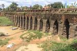 Twelfth century bridge, known as the Ancient Bridge or Spean Praptos, is the longest Angkor era bridge.