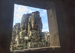 The Bayon temple is a richly decorated Khmer temple at Angkor in Cambodia.