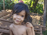 Young girl in a small, rural village near Siem Reap, Cambodia.