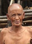 Elderly woman in Kompong Pluk, a village of stilt houses near Siem Reap, Cambodia