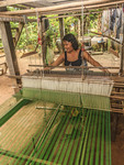 Silk weaving on Koh Dach Island, an island off central Phnom Penh, Cambodia.