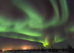 Northern lights seen from just outside Churchill, Manitoba.