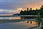 Dawn at Walung, isolated village on Kosrae, Federated States of Micronesia (FSM).