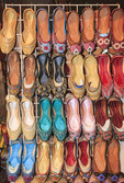 Shoes for sale in the old market (souks) of Dubai, UAE.