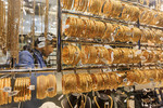 Gold jewelry in Dubai's gold souk.