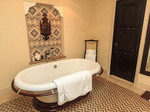 Luxurious bathroom in deluxe Jumeirah hotel Dubai, UAE.