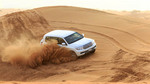 Dune bashing among the sand dunes outside Dubai, UAE.