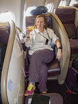 Upper class on a Virgin Atlantic flight.