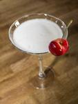 Cherry martini made with Orondo Ruby cherries.