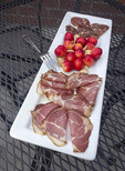 Cured ham and custom made salami along with Orondo Ruby cherries