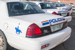 RCMP ('Mountie') police cars. Regina, Saskatchewan, Canada.
