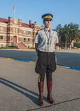 Sgt. Pharanae Jaques, one of the training officers at the RCMP Depot cadet training academy in Regina, Saskatchewan, Canada.