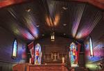 Beautifully lit chapel at the RCMP Depot cadet training academy in Regina, Saskatchewan, Canada.