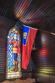 Beautifully lit chapel at the RCMP Depot cadet training academy in Regina, Saskatchewan, Canada.
