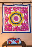 Quilt blanket by Pat Goudy, Nakota Sioux, for sale at Tatanka Boutique, Regina, Saskatchewan, Canada.