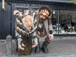 The famous troll statue along Reykjavik's shopping street.
