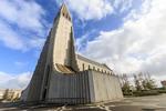 Hallgrímskirkja, a Lutheran church and landmark in Reykjavík, Iceland.