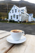 Cappuccino in the eastern Iceland town of Seydisfjordur.