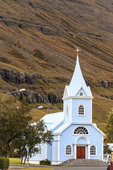 Church in the eastern Iceland town of Seydisfjordur.