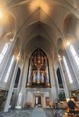 Hallgrímskirkja, a Lutheran church and landmark in Reykjavík,