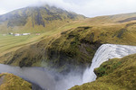 Skógafoss, in southern Iceland, is one of the biggest waterfalls in the country