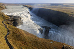 Gullfoss waterfall is one of the most popular tourist attractions in Iceland.