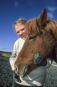 Icelandic woman and her Icelandic horse
