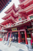 Buddha Tooth Relic Temple and Museum in Singapore's Chinatown district.