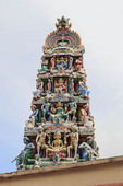 The Sri Mariamman Temple, dating back to 1827, is Singapore's oldest Hindu temple. It is an agamic temple, built in Dravidian style. Located  in the downtown Chinatown district.