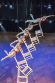"Chinese Acrobats in the ""Amaze Featuring the Acrobats of Shanghai"" performance in Branson, MO."