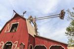 The Giant Barn Swing at Silver Dollar City, an 1880s theme amusement park near Branson, MO.