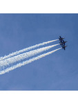 The Blue Angels performing over Seattle during the 2015 Seafair Air Show.