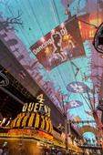 Crazy video on canopy along Fremont Street in Downtown Las Vegas, Nevada.