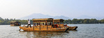 Boat tour on West Lake in Hangzhou, China.