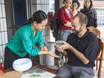 Tea ceremony at Meijiawu Tea Village in Hangzhou, China.