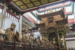 Statues of arhatsat Lingyin Temple in Hangzhou, China.