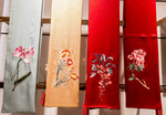 Silk scarves for sale at Wensli Silk Museum in Hangzhou, China