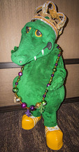 Gumbeaux Gator, the mascot and good will ambassador of Southwest Louisiana