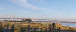 Interstate 210 (I-210) Bridge over Lake Charles, LA, USA.