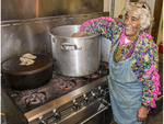 Mary Victorian, 80, cooks up a pot of her famous gumbo