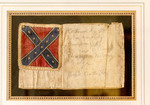 """""""The Little Flag,"""" a Confederate flag once on the headband of a Confederate soldier's horse"""