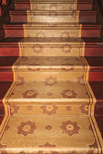 Painted stairs in Ardoyne Plantation. Cheaper than carpet in 1800s
